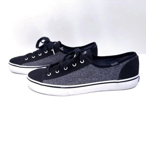 Keds Double Up Sneakers Canvas Wool Lace Up Casual